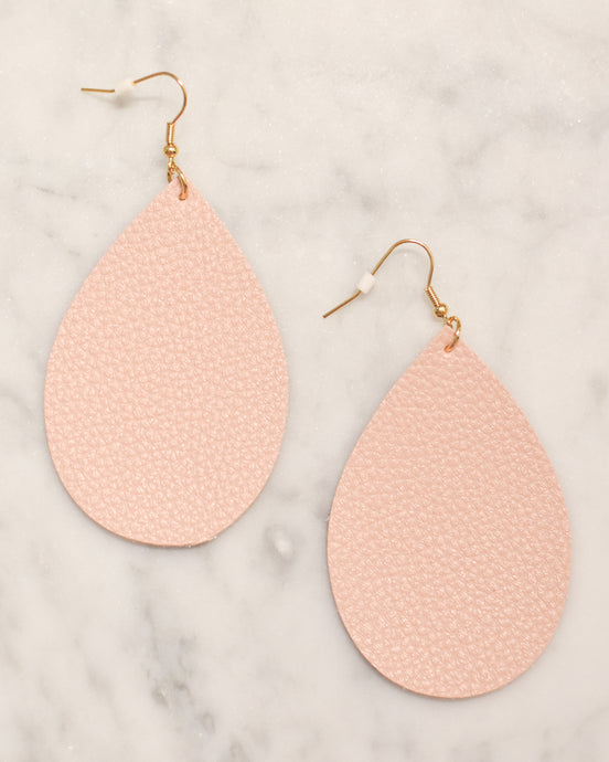 Blush Leather Earrings