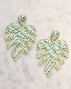 Mint Leaf Earrings