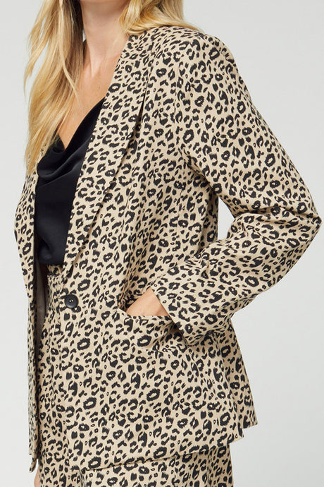 All In Leopard Blazer