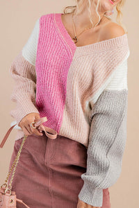 One of the Girls Colorblock Sweater