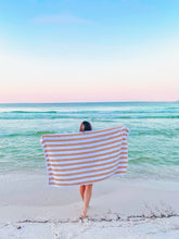 Load image into Gallery viewer, Tan Stripe Beach Towel