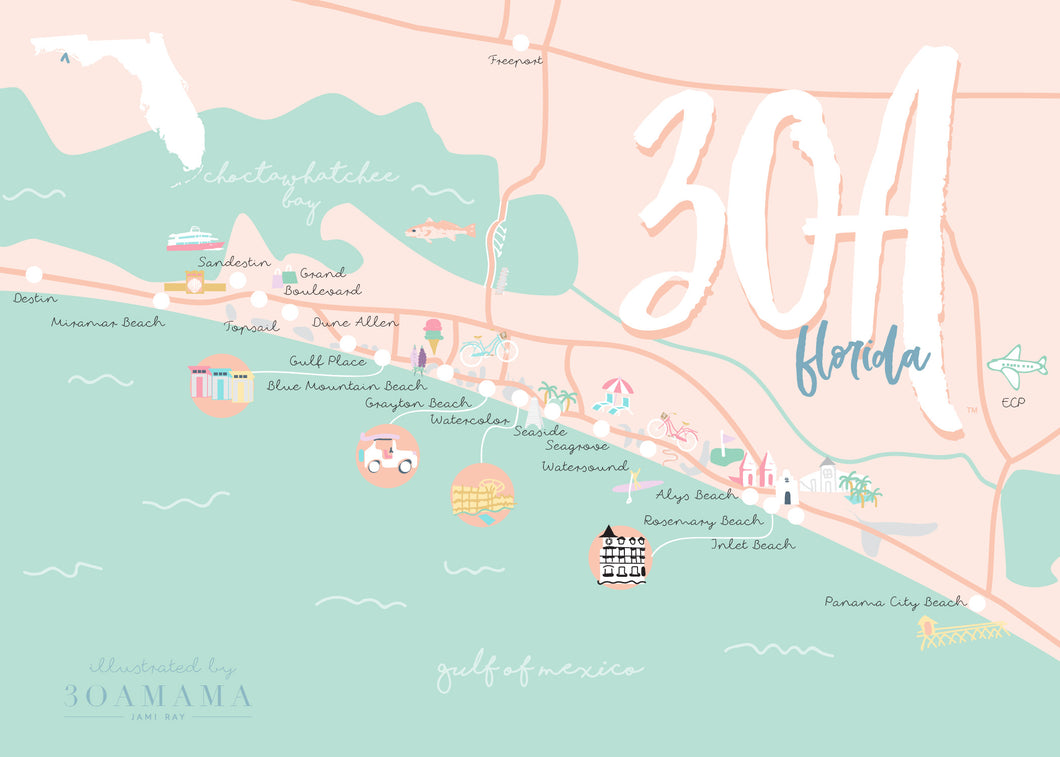 30A Map Illustration