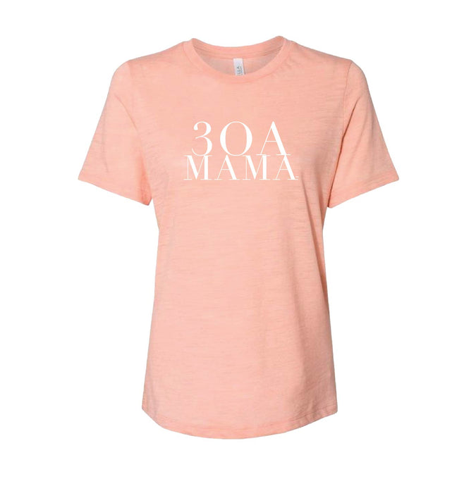 Ladies Peach 30A Mama Tee