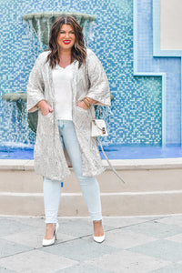 Steal My Breath Sequin Duster