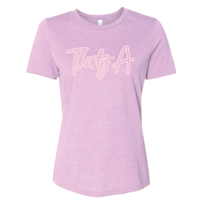 Ladies Lilac & Pink Thirty-A Tee