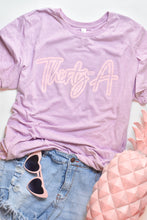 Load image into Gallery viewer, Ladies Lilac & Pink Thirty-A Tee