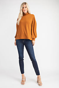 All the Feels Mock Neck Top