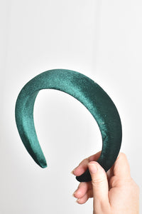 Leighton Velvet Headband Green