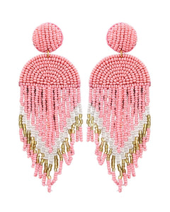 Live It Up Earrings Pink