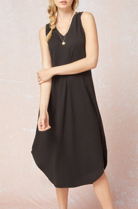 So Basic Tank Dress Black