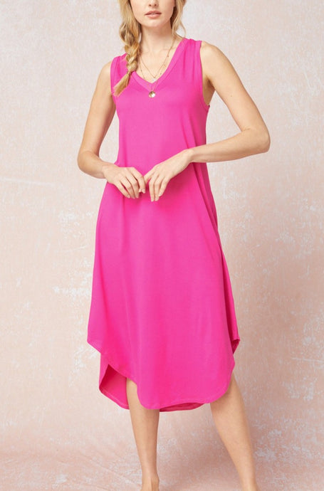 So Basic Tank Dress Pink