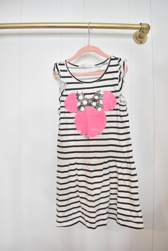 Stripe Minnie Mouse sequin dress