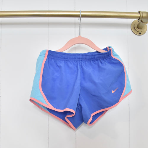 Nike shorts in blue/pink