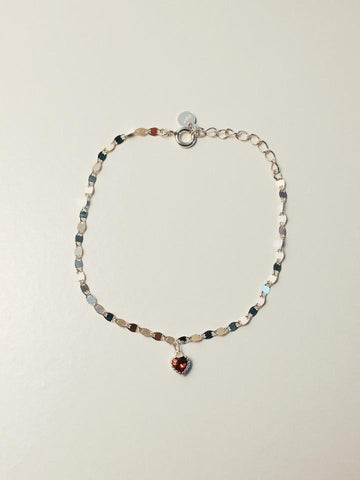 Bracelet in silver 925  red heart