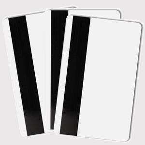Magnetic-stripe cards (3 colour logo) SWIPE CARDS (Pack of 25)