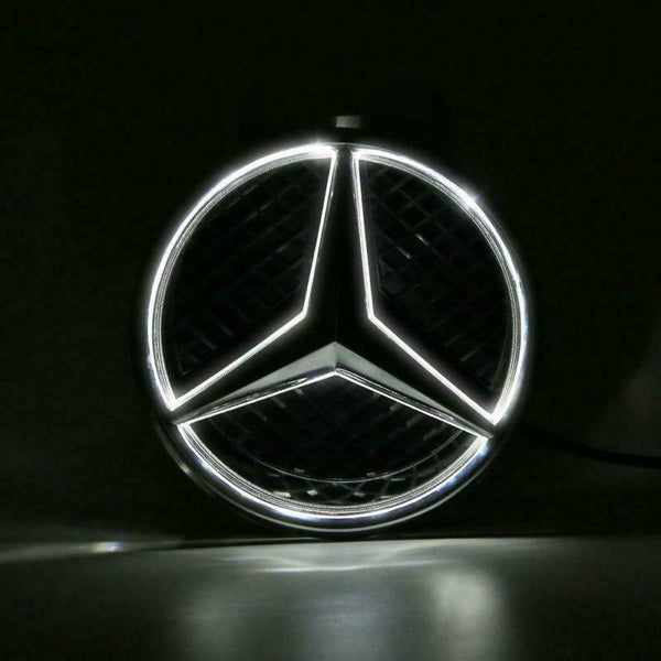 W212 Mercedes E Class E350 E550 Diamond Grill grille Illuminated LED Star emblem - 55tech Motors
