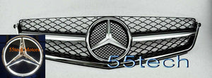 W204 C63 AMG Grille ILLUMINATED LED STAR 2008~2011 (C63 AMG ONLY) - 55tech Motors