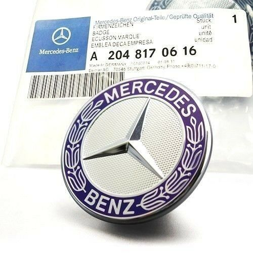 Mercedes Benz Flat Hood Emblem Badge - 55tech Motors