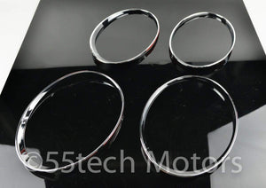 CONTINENTAL GT GTC CHROME HEADLIGHT TRIMS - 55tech Motors