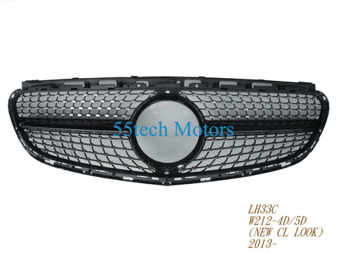W212 1 FIN DIAMOND GRILLE FOR E550 E350 2014 2015 - 55tech Motors