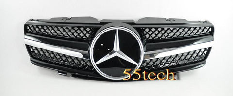 Mercedes Benz R230 2003~2006 SL-Class 1 Fin Grille - 55tech Motors