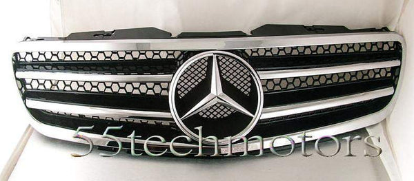 Mercedes Benz R230 2003~2006 SL-Class Grill with Frame - 55tech Motors