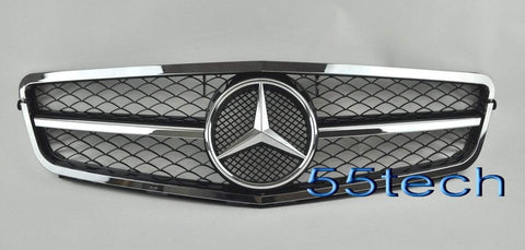 Mercedes Benz W204 2008~2011 C-Class 2012-C63 AMG Style Grille-NEW TYPE - 55tech Motors