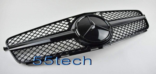 Mercedes Benz W204 2008~2011 SLS 1 Fin Style Grille - 55tech Motors