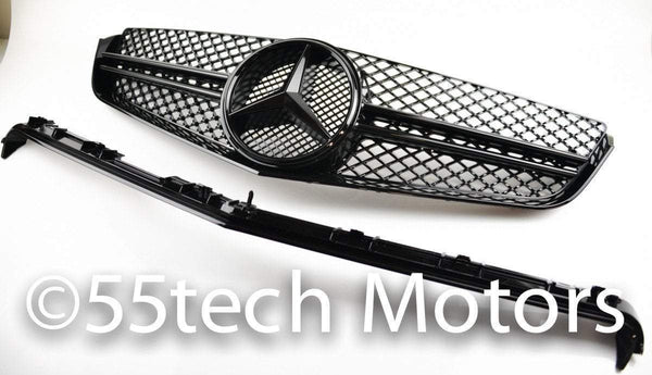 Mercedes-benz W207 2 door coupe Single Fin Grill (AMG Type) - 55tech Motors