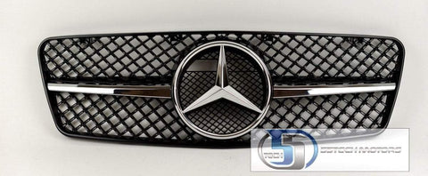 Mercedes Benz W208 CLK 1997~2002 1 Fins Sports Style Grille - 55tech Motors