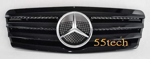 Mercedes Benz W208 CLK 1997~2002 4 Fins Sports Style Grille - 55tech Motors