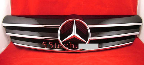 Mercedes Benz W209 CLK 2003~2009 3 Fin Grille - 55tech Motors