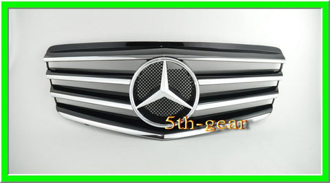 Mercedes Benz W211 2007~2009 E-Class 4 Fins Grille - 55tech Motors