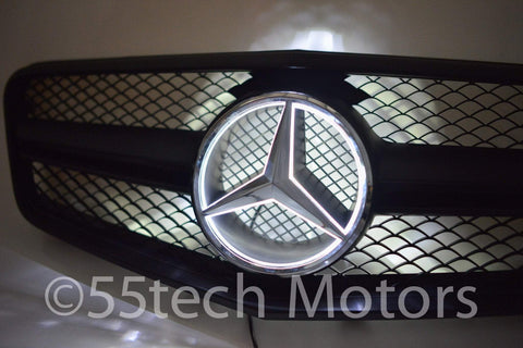 Mercedes Benz W212 E-Class 1 Fin Style Grille with Illuminated LED Star - 55tech Motors