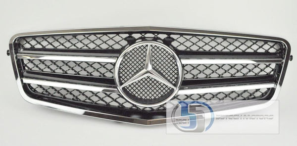 Mercedes Benz W212 E-Class Grill with Thinner Outer Chrome Frame - 55tech Motors
