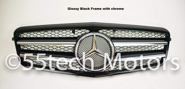 Mercedes Benz W212 E-Class Grille 2 Fin with LED Illuminated Star - 55tech Motors