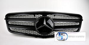 Mercedes Benz W212 E-Class Grille Glossy black grille - 55tech Motors