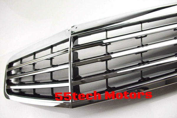 Mercedes Benz W212 E-Class OEM Style Matte Black / Chrome Grill - 55tech Motors