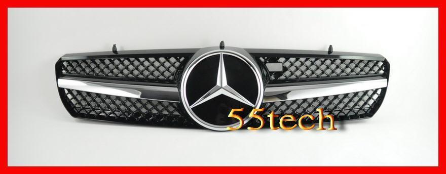 Mercedes Benz W215 2000~2006 CL Class 1 Fin Grille ( works with Distronic) - 55tech Motors