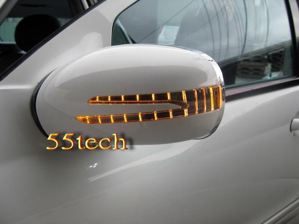 Mercedes Benz W221 2007~2009 Arrow Style LED Side Mirror Covers - 55tech Motors