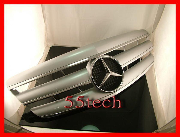 Mercedes Benz W221 2007~2009 S-Class 3 Fins Sports Grille - 55tech Motors