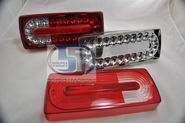 Mercedes Benz W463 G-Class 2010 Style LED Tail Lights covers ( LED) - 55tech Motors