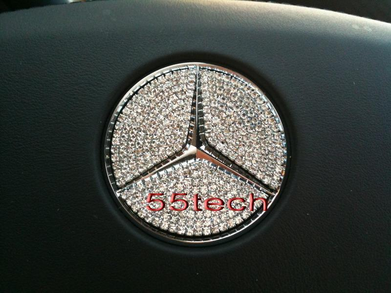 Mercedes Crystal Steering wheel Center Badge - 55tech Motors
