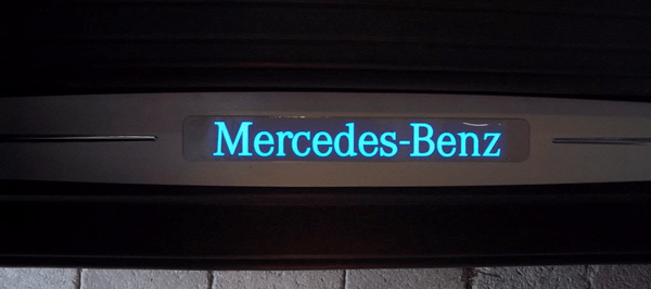 Mercedes R230 2003~2008 SL-Class Door sills with Illuminated Logo - 55tech Motors