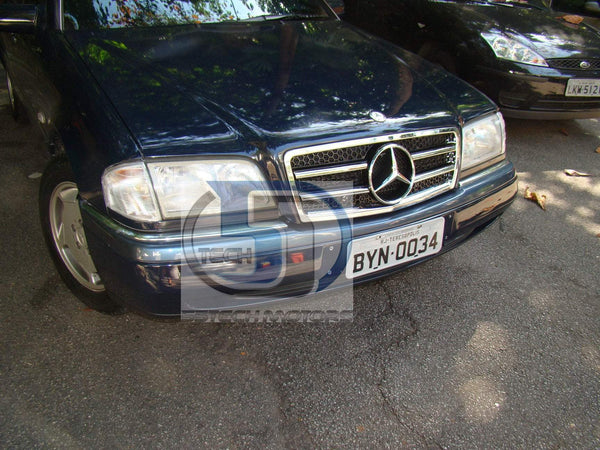 Mercedes W202 1993~2000 C-Class Grille w/ Chrome Frame - 55tech Motors