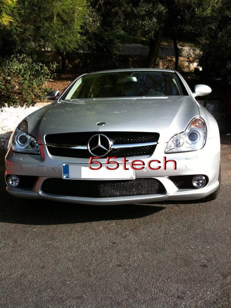 Mercedes W219 CLS 1 Fin Style Grill ( No Distronic) - 55tech Motors