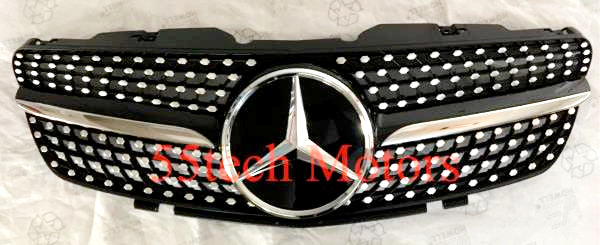 Mercedes R230 Diamond SL500 SL600 Grille Grill  SL Class - 55tech Motors