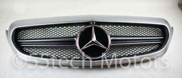 W205 2015 C class c250 c300 c400 Grille grill AMG 1 Fin Style - 55tech Motors