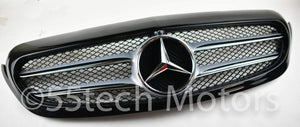 W205 Grille Avantgarde Black 2 Fins - 55tech Motors