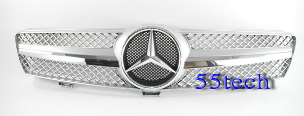 Mercedes W219 CLS 1 Fin Style Grill (Distronic) - 55tech Motors